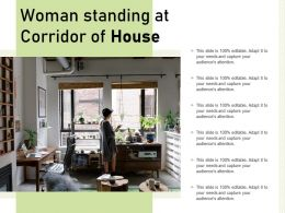 Woman Standing At Corridor Of House