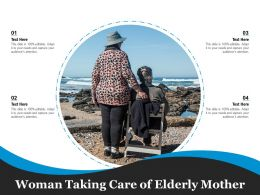 Woman Taking Care Of Elderly Mother