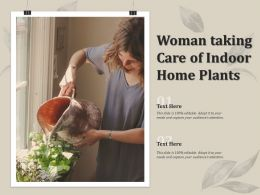 Woman Taking Care Of Indoor Home Plants
