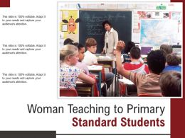 Woman Teaching To Primary Standard Students