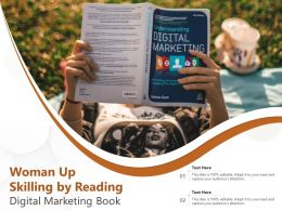 Woman Up Skilling By Reading Digital Marketing Book