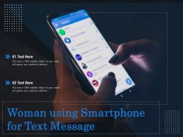 Woman Using Smartphone For Text Message