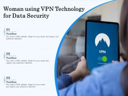 Woman Using VPN Technology For Data Security