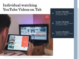 Woman Watching Youtube Videos On Tab