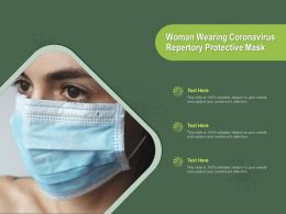 Woman Wearing Coronavirus Repertory Protective Mask Ppt Powerpoint Presentation Slides Layout Ideas