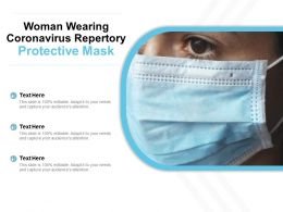 Woman Wearing Coronavirus Repertory Protective Mask
