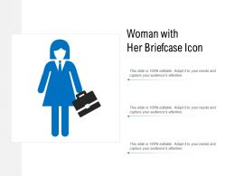 Woman With Her Briefcase Icon