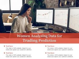 Women Analysing Data For Trading Prediction
