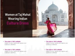 Women At Taj Mahal Wearing Indian Culture Dress