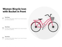 Women Bicycle Icon With Bucket In Front