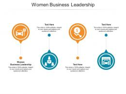 Women Business Leadership Ppt Powerpoint Presentation Layouts Inspiration Cpb