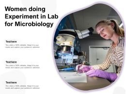 Women Doing Experiment In Lab For Microbiology