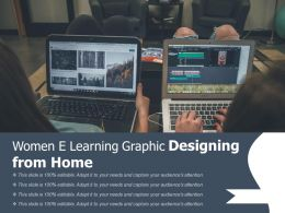 Women E Learning Graphic Designing From Home