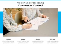 Women Employees Signing Commercial Contract