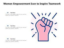 Women Empowerment Icon To Inspire Teamwork