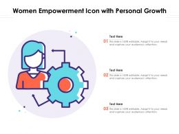 Women Empowerment Icon With Personal Growth