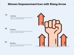 Women Empowerment Icon With Rising Arrow