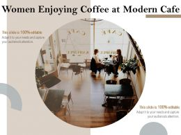 Women Enjoying Coffee At Modern Cafe