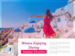 Women Enjoying During Summer Vacation