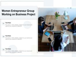Women Entrepreneur Group Working On Business Project