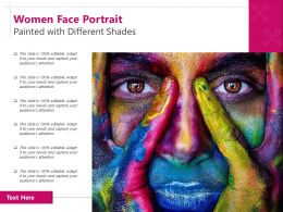 Women Face Portrait Painted With Different Shades
