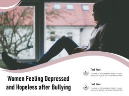 Women Feeling Depressed And Hopeless After Bullying