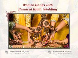 Women Hands With Heena At Hindu Wedding