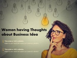 Women Having Thoughts About Business Idea