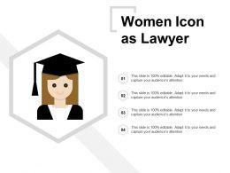 Women Icon As Lawyer