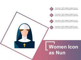 Women Icon As Nun
