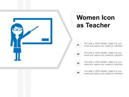 Women Icon As Teacher