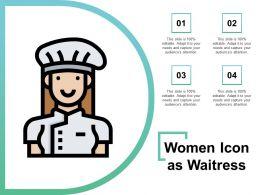 Women Icon As Waitress
