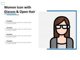 Women Icon With Glasses And Open Hair
