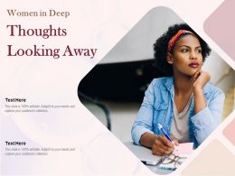 Women In Deep Thoughts Looking Away