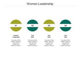 Women Leadership Ppt Powerpoint Presentation Inspiration Slides Cpb