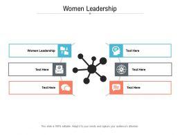 Women Leadership Ppt Powerpoint Presentation Inspiration Tips Cpb