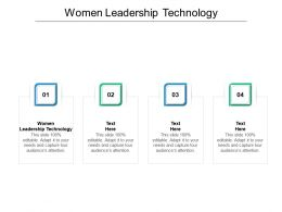 Women Leadership Technology Ppt Powerpoint Presentation Infographic Template Cpb