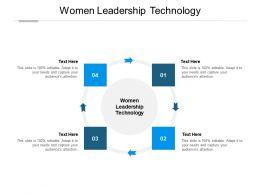 Women Leadership Technology Ppt Powerpoint Presentation Inspiration Good Cpb
