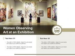 Women Observing Art At An Exhibition