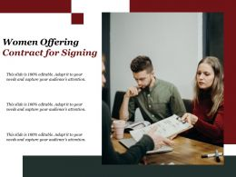 Women Offering Contract For Signing