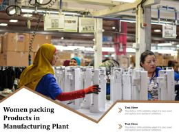 Women Packing Products In Manufacturing Plant