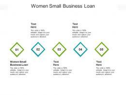 Women Small Business Loan Ppt Powerpoint Presentation Professional Slide Portrait Cpb