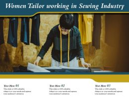 Women Tailor Working In Sewing Industry