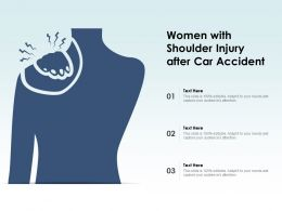 Women With Shoulder Injury After Car Accident
