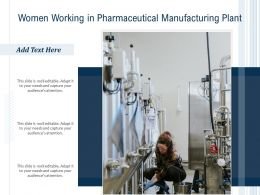 Women Working In Pharmaceutical Manufacturing Plant