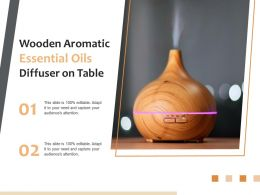 Wooden Aromatic Essential Oils Diffuser On Table