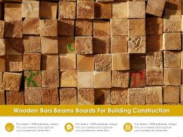Wooden Bars Beams Boards For Building Construction