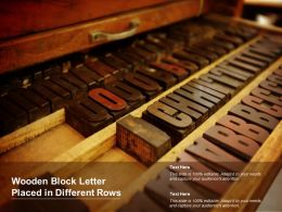 Wooden Block Letter Placed In Different Rows