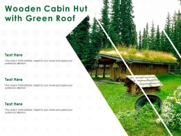 Wooden Cabin Hut With Green Roof