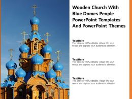 Wooden Church With Blue Domes People Powerpoint Templates And Powerpoint Themes